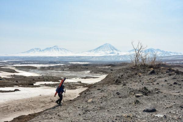 Area around Zhupanivsky volcano after huge landslide, Kamchatka.