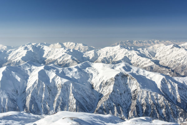 Mountains of Svaneti, mountain land in the western part of Georgia republic.