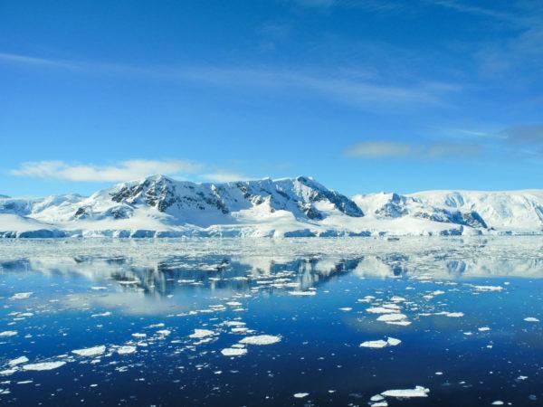 Breathtaking landscape of Antarctic peninsula