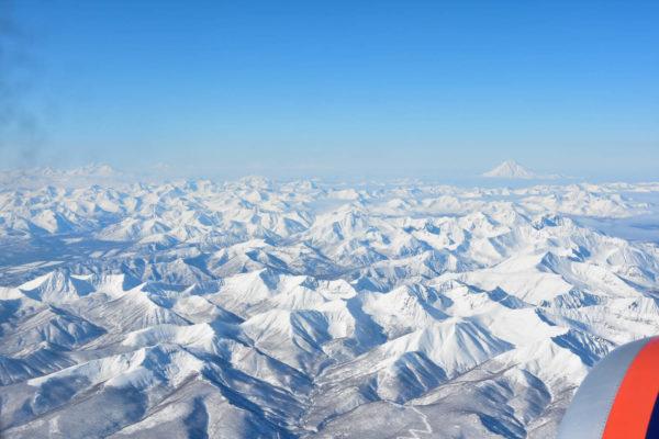 Huge and wild Sredinny range, Kamchatka peninsula.