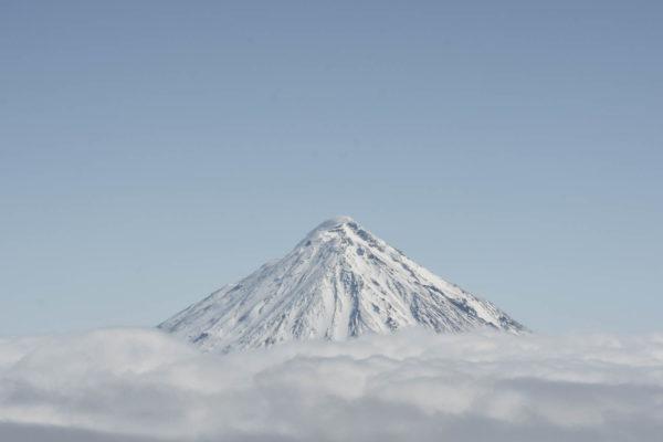 Koryaksky volcano (3456m), one of the most iconic ski-mountaineering object in Kamchatka.