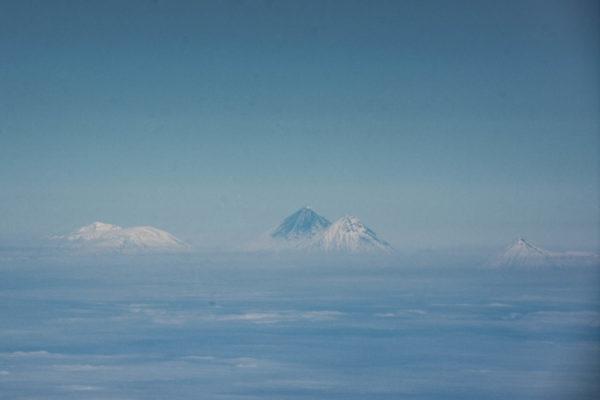 Kluchevskaya group of volcanoes, the tallest volcanoes of Kamchatka, all of them over 4000 meters.