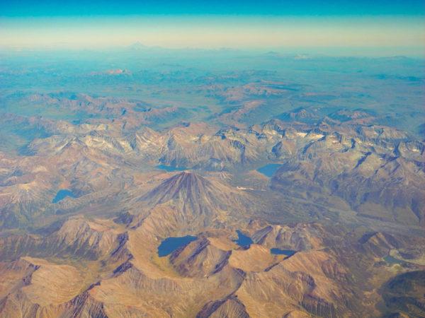 Seven lakes of Bakening volcano, Kamchatka peninsula.