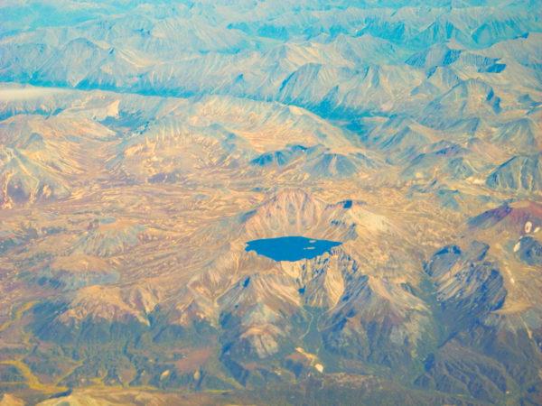 Khangar volcanic lake in Sredinny range, Kamchatka.