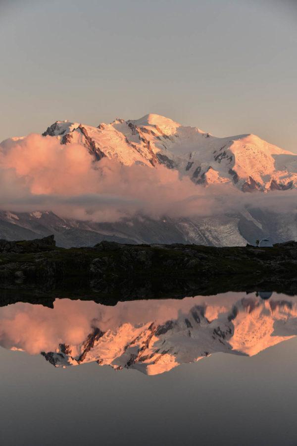 Mont Blanc and lacs des Chéserys